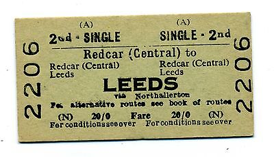 Railway ticket BRB Redcar (Central) to Leeds.