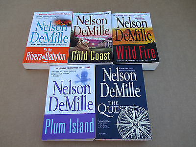 Book lot - Nelson DeMille - 5 Brand New Paperback Suspense Novels