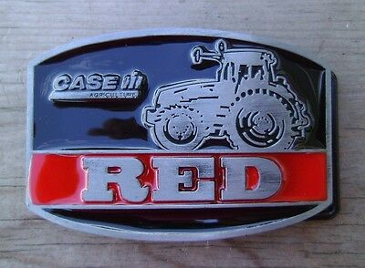 Case Tractor RED International Harvester Belt Buckle NEW