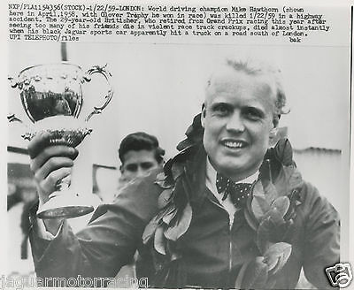 Mike Hawthorn Death  Period   Press Photograph.