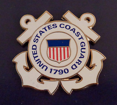 "UNITED STATES COAST GUARD 1.5""  1 1/2"" CROSSED ANCHORS SHAPED Lapel Pin US USCG"