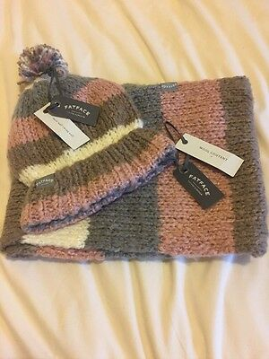 Super Soft Fat Face Wool Content Hat And Snood Set Brand New With Tags