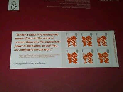 LONDON 2012 SELF ADHESIVE BOOKLET  6 X  1st CLASS STAMPS.  U/MINT