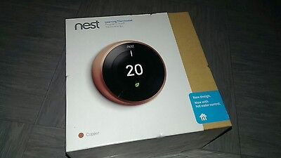NEST Learning Thermostat 3rd Generation in copper colour