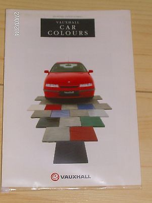 VAUXHALL RANGE CAR COLOURS BROCHURE  1991 Ed.2  #Vau16