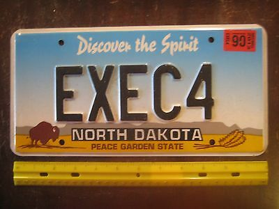 License Plate, North Dakota, 2013, Bison--that's no Bull!  EXEC 4, Executive 4