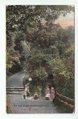 To The Glen Rouken Glen 18 Nov 1907 McCallum Hope Villa Glasgow Road Muirkirk