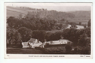 Teviot Valley And Goldielands Tower Hawick Roxburgh Real Photograph 6 Apr 1910