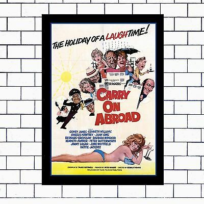 Carry On Abroad - A3 - A4 - Framed Or Unframed.