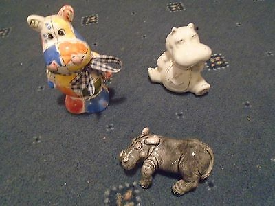 2 x hippo money boxes and another hippo