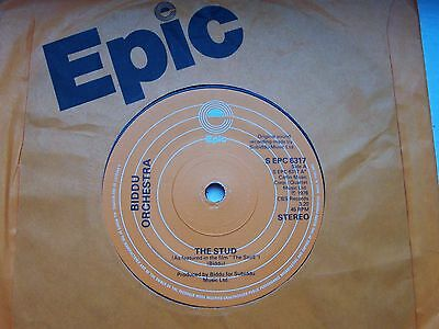The Biddu Orchestra, The Stud / Unfinished Journey. 1978 Epic 45