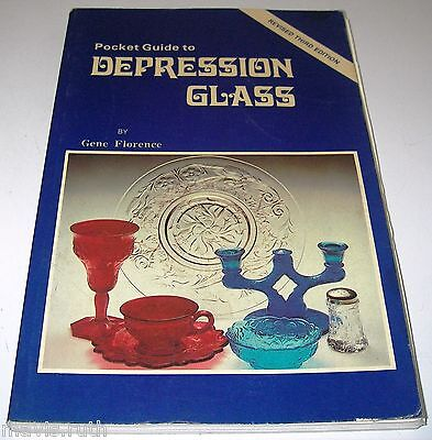 BOOK Pocket Guide to Depression Glass Third Gene Florence w Prices 0891452095