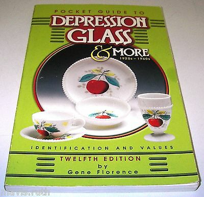 BOOK Pocket Guide to Depression Glass & More/Gene Florence w Prices 1574322028