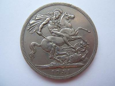 1951 GEORGE VI CROWN coin FESTIVAL OF BRITAIN overall good.