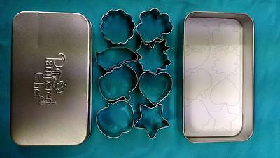 The Pampered Chef Creative Cutters Set ~ 8 Mini Cookie Cutters w/ Tin ~ #1095