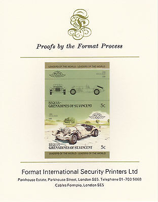 Bequia (2150) - 1985 Cars #3 Excalibur  imperf on Format Int PROOF  CARD