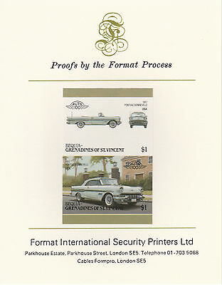 Bequia (2151) - 1986 Cars #6 Pontiac  imperf on Format Int PROOF  CARD