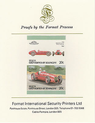 Bequia (2159) - 1987 Cars #7 Maserati  imperf on Format Int PROOF  CARD