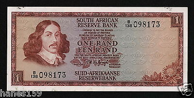 SOUTH AFRICA (P115a) 1 Rand ND(1973) aVF/F+