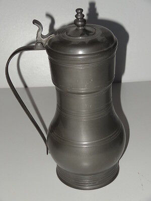 Vintage Lidded Pewter Large Stein By Royal Holland