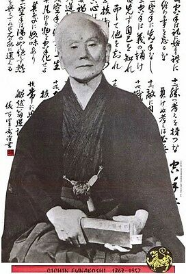 "Gichin Funakoshi Father of Shotokan Karate Dojo Display Gift Plaque 11""x17"""
