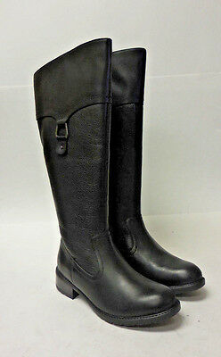 AR1189 Retail Stock Women's Clarks Swansea Bridge Black Leather Boot 9 M
