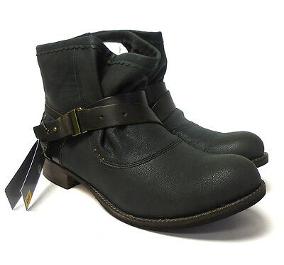 J6102 New Women's Shoes Cat Rita Black Ankle Boot 8.5 M