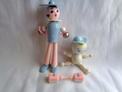 Vintage Hard Plastic   Lot Of 3  Baby Toy Rattles