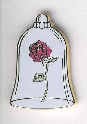 Disneyland Paris Disney Pin Beauty and the Beast 2017 8/8 Rose in Glass Bell