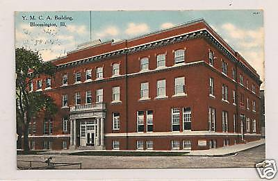 """BLOOMINGTON, IL"" - Y. M. C. A.  Building - Circa 1910"