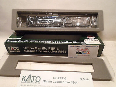 KATO 1260401 N SCALE FEF-3 4-8-4 Steam Loco W tenderUnion Pacific #844 126-0401