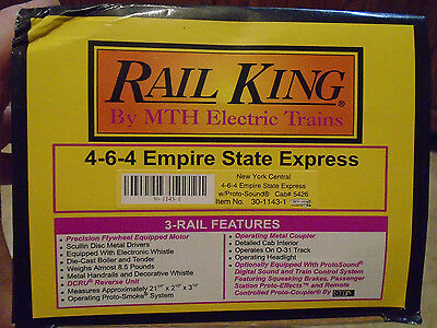 Empty Box For Mth Rail King #30-1143-1 4-6-4 Empire State Express Steam Loco