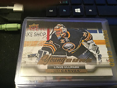 2015-16 Ud Upper Deck Series 2 Linus Ullmark Young Guns Rookie Canvas Card #c217