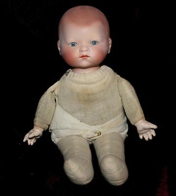 "12"" Baby Doll with Bisque Head Composition Hands marked AM Germany 341./3"