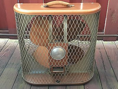 Vintage Emerson Electric Box Fan Type 746310-AH 2 Speed, Dual Direction Copper