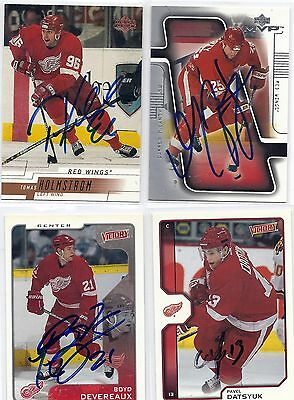 2000 UD #65 Tomas Holmstrom Detroit Red Wings Signed Autographed Card