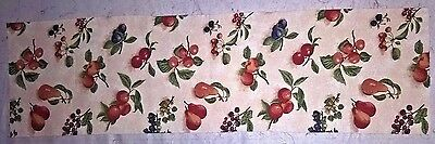 Longaberger Fruit Medley fabric - the highest quality - 32 x 9 inches
