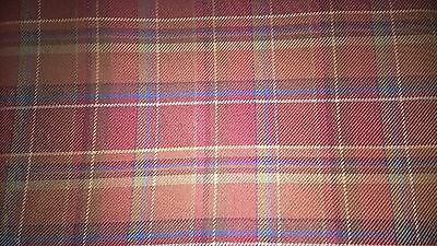 Longaberger brand Toboso Plaid fabric. Two yards and BIg 56 inches wide