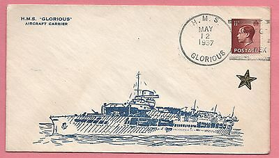 1937 Great Britain Naval Cover Hms Glorious Cancel