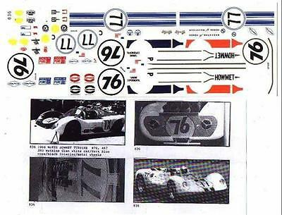 Fred Cady Decal #836 To Do The 68 McKee Howmet Turbine, 66 Chevrolet #77, #76