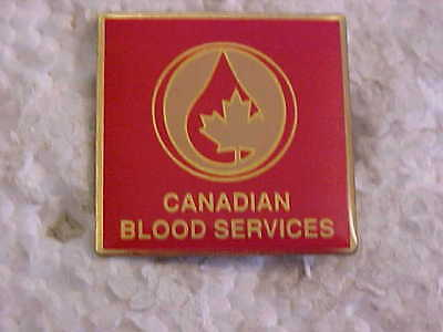 Square Canadian Blood Services Lapel Pin