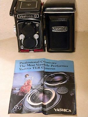 Vintage Yashica D Tlr Camera Medium Format In Vg+ Condition Clean **no Reserve