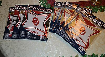 Lot 10 Turner Oklahoma University Sooners Stretchable Book Covers OU 8'' x 10''