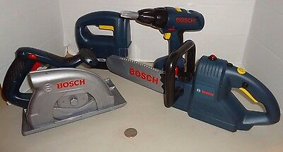 Klein BOSCH Kids Electronic Power Tools Set Saw Drill Chainsaw  Lot of 4 Set