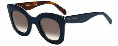 New Celine MARTA CL 41093/S 273/Z3 dark blue havana/brown Sunglasses