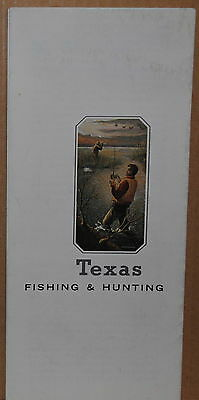 1980's Texas State Fishing and Hunting Travel Brochure and Map