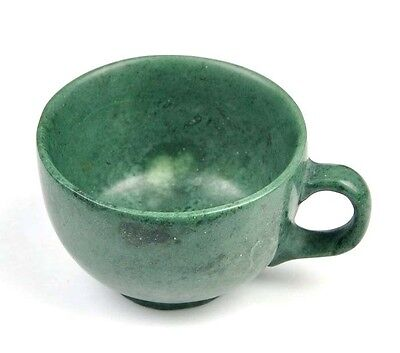 Hand Carved Natural Green Stone Coffee Cup