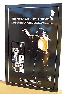 "Michael Jackson ""in Memory Of-His Music Will Last"" Hong Kong Giant Promo Display"