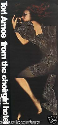"TORI AMOS ""FROM THE CHOIRGIRL HOTEL"" U.S. PROMO POSTER - Tori In Fetal Position"