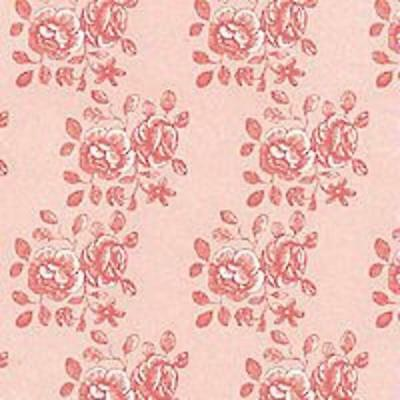 Dolls House Pink on Pink Georgia Miniature Print 1:12 Scale Wallpaper